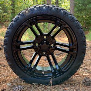 "14"" Terminator Gloss Black Wheels and STINGER"