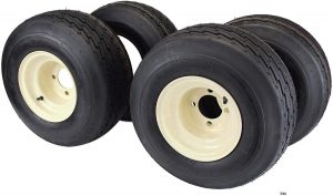 18x8.50-8 with 8x7 Tan Wheel Assembly for Golf Cart and Lawn Mower