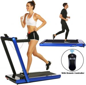 Miageek, 2 in 1 Under Desk Folding Treadmill