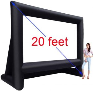 20' Inflatable Outdoor Projector Movie Screen