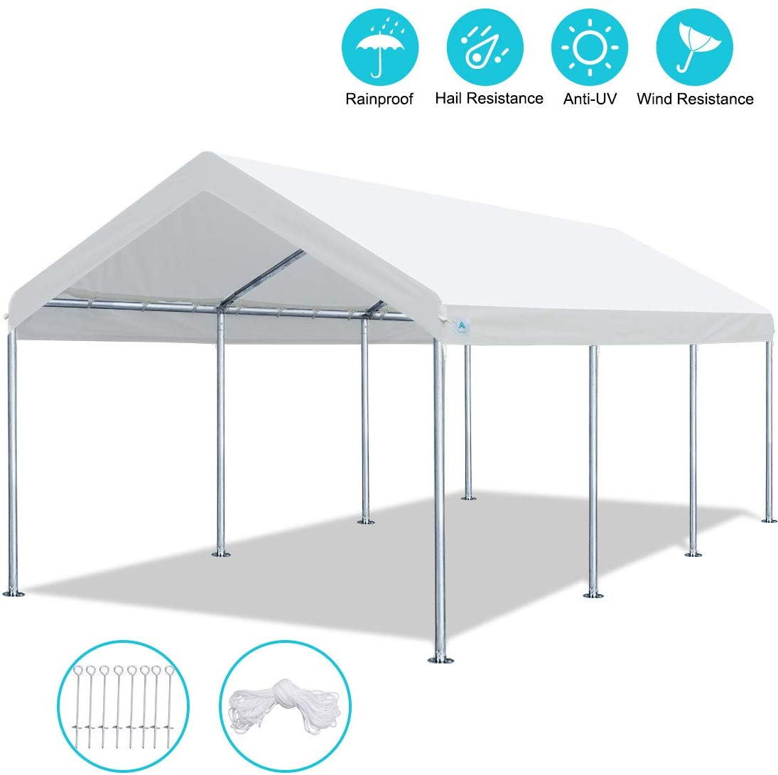 ADVANCE OUTDOOR 10 x 20 FT Heavy Duty Carport
