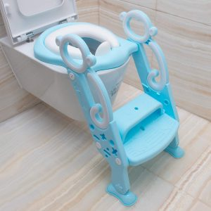 AKLLA Potty Training Ladder, Adjustable Potty Training Seat with Sturdy Non-Slip Steps