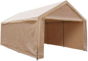 Abba Patio 12 x 20-Feet Heavy Duty Carport, Car Canopy Shelter with Removable Side Panels