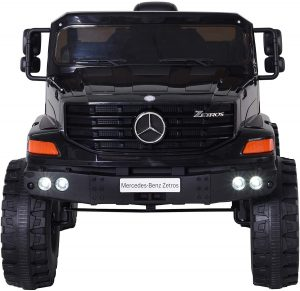 Aosom 12V Mercedes-Benz Zetros Kids Ride On Car Off Road Truck with Remote Control