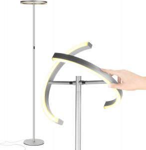 Brightech Halo Split - Modern LED Torchiere Floor Lamp