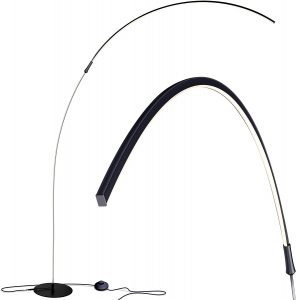 Brightech Sparq Hanging LED Arc Floor Lamp | Over the Couch Contemporary Standing Lamp