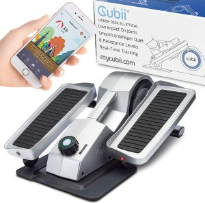 Cubii Pro Seated Under-Desk Elliptical - Get Fit While You Sit - Bluetooth Enabled, Sync with Fitbit and Apple HealthKit
