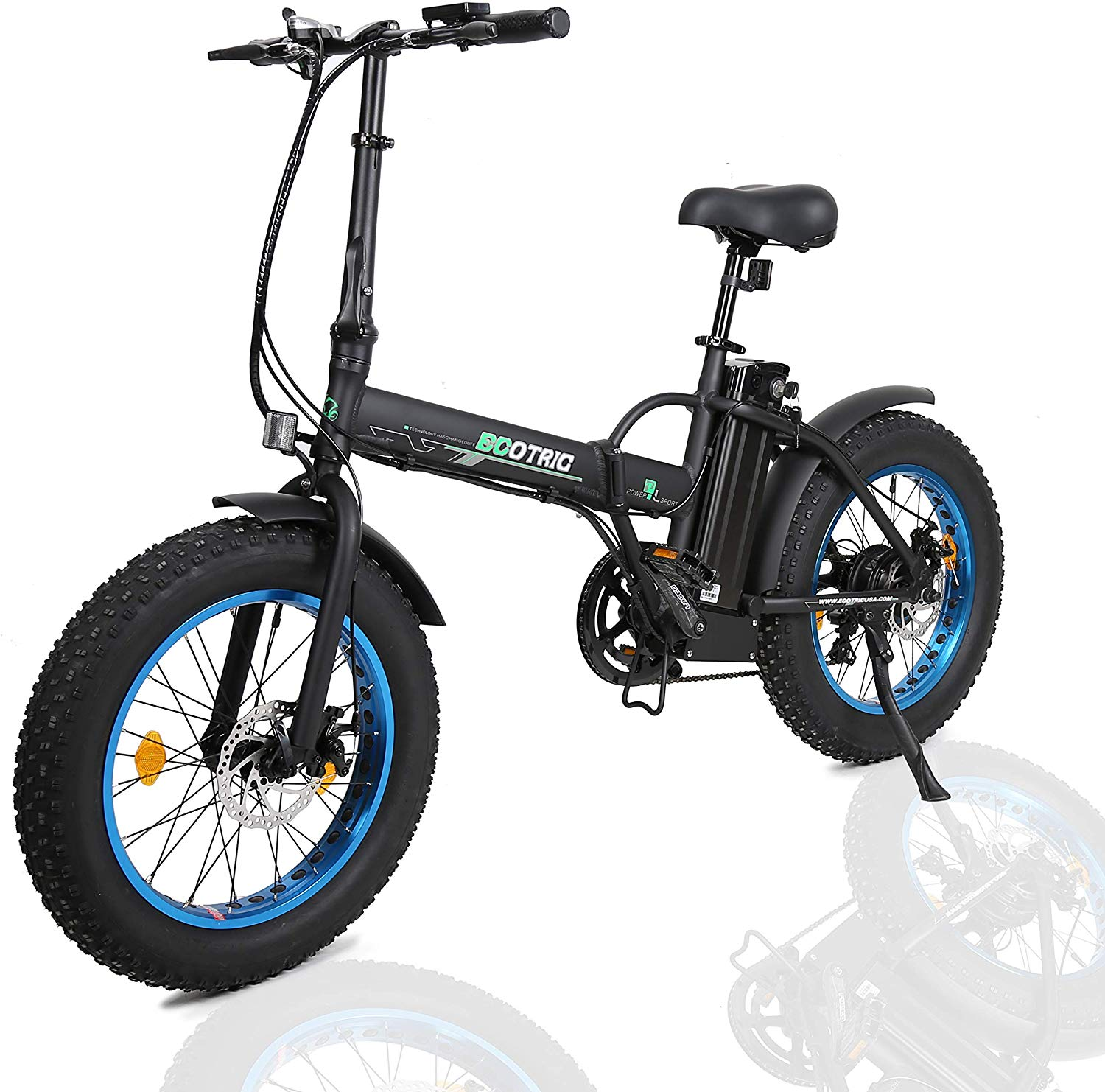 "ECOTRIC 20"" New Fat Tire Folding Electric Bike Beach Snow Bicycle ebike 500W"