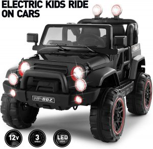 Fitnessclub Electric Cars for Kids, 12V Powered Kids Ride On Car with 2.4 GHZ Bluetooth Remote Control