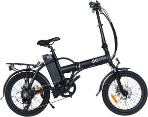 """Folding Electric Bicycle 20"""" 500W With A Removable 48v 10AH Lithium-Ion Battery"""