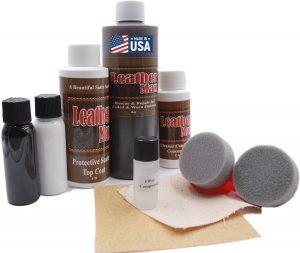 Furniture Leather Max MEGA Kit | Leather Restorer 8 Oz Refinish 2 Oz Conditioner