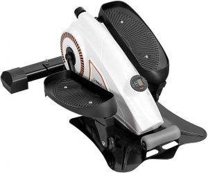 Goplus 2 in 1 Under Desk Elliptical Stepper, Resistance Adjustable, More Stable with Heavier Weight