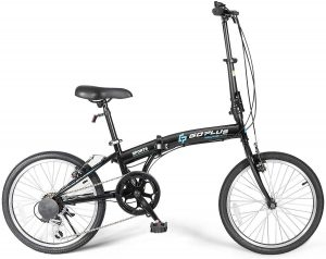 Goplus 20'' Folding Bike, 7 Speed Shimano Gears, Lightweight Iron Frame