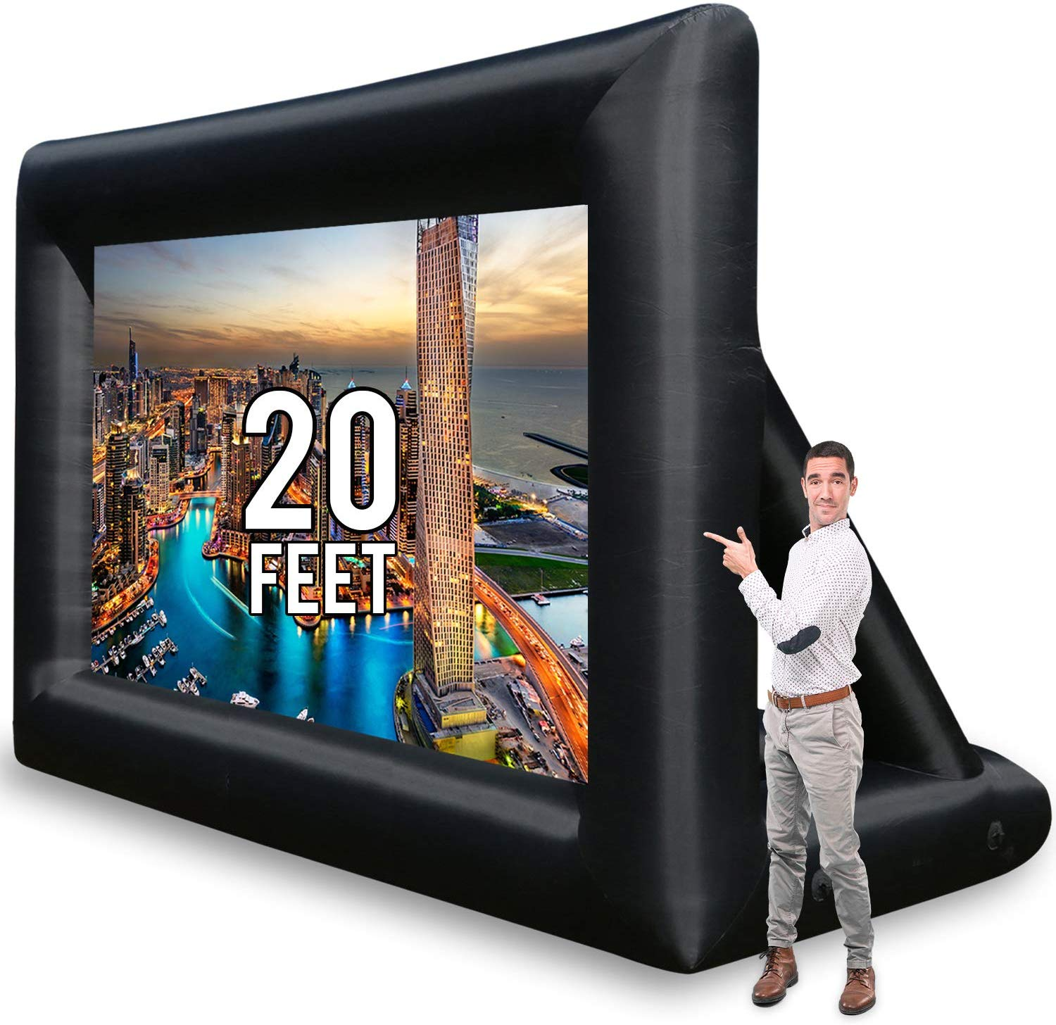 Jumbo 20 Feet Inflatable Outdoor and Indoor Theater Projector Screen