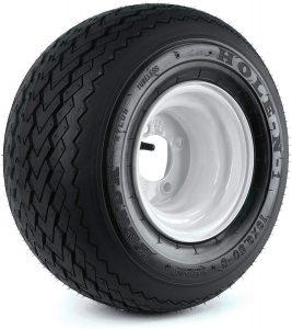 "Kenda Hole-N-1 White 8"" x 7"" 4-Hole Wheel"