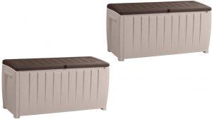 Keter 235484 Novel 90 Gallon Plastic Deck Storage Box