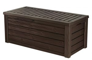 Keter Westwood Plastic Deck Storage Container Box Outdoor Patio Garden Furniture 150 Gal