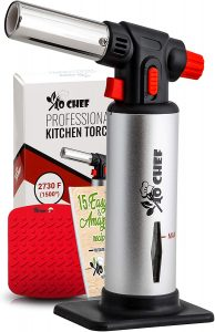Kitchen Torch, Blow Torch - Refillable Butane Torch With Safety Lock & Adjustable Flame