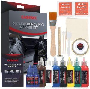 Leather Repair Kit,EASESEC 25 PCS Professional Vinyl Repair and Restoration Kit