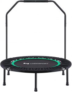Ludosport Foldable Trampoline Rebounder 40 Inch Fitness Trampoline for Kids Adults