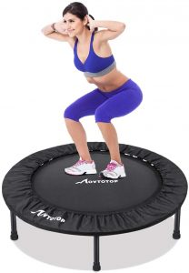 MOVTOTOP Mini Trampoline 38 Inch, Folding Indoor Trampolines with Safety Pad,