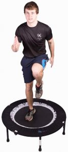 MaXimus PRO Folding Rebounder | Voted #1 Indoor Exercise Mini Trampoline For Adults With Bar
