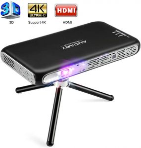 AUCARY Mini Portable Projector | AUCARY 3D Pico Projector for Home Theater