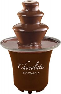Nostalgia CFF3BR 8-Ounce Chocolate Fondue Fountain