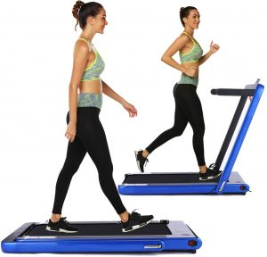 OppsDecor Under Desk Treadmill 2in1 Walking Running Machine Electric Treadmill