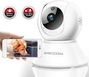 Pet Camera,Dog Camera 1080P HD Wireless IP Camera 2.4G with 2 Way Audio Night Vision