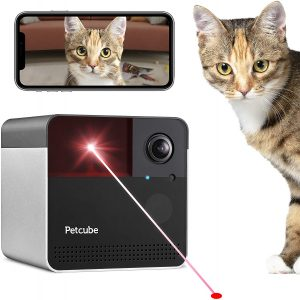 Petcube Play 2 Wi-Fi Pet Camera with Laser Toy & Alexa Built-In, for Cats & Dogs. 1080P HD Video, 160° Full-Room View