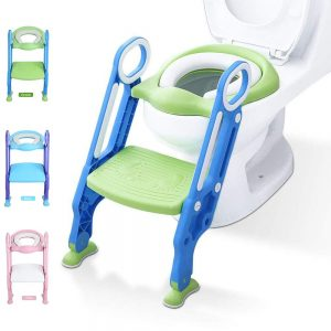 Potty Training Toilet Seat with Step Stool Ladder for Kid