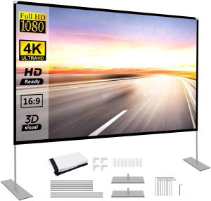 portable projector screen lightweight