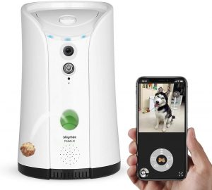 SKYMEE Dog Camera Treat Dispenser,WiFi Full HD Pet Camera with Two-Way Audio and Night Vision