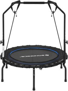 SONGMICS Mini Trampoline for Adults Folding Exercise Fitness Rebounder with Handle 40-Inch