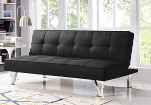 Serta Rane Collection Convertible Sofa | Black Leather Couch | Black Leather Sofa