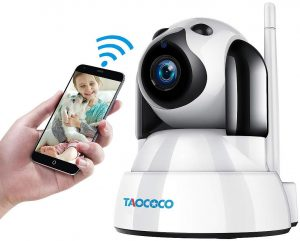 TAOCOCO Dog Camera, Pet Camera, 1080P FHD WiFi IP Surveillance Camera, Wireless Security Dome Camera