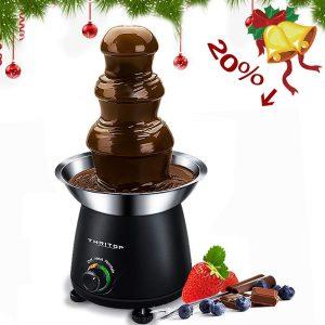 THRITOP Chocolate Pro Fountain,3-Tier Stainless Steel Tower Chocolate Fondue