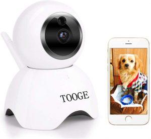 TOOGE Pet Camera, Dog Camera FHD Pet Monitor Indoor Cat Camera Night Vision