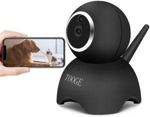 TOOGE WiFi Dog Pet Camera FHD Pet Monitor Indoor | Home Cat Camera for Baby with Night Vision