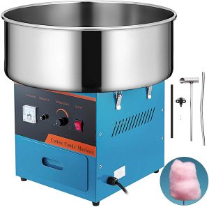 VBENLEM Electric Candy Floss Maker 20.5 Inch Cotton Candy Machine Blue Cotton Candy Maker