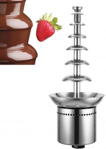VEVOR Commercial Chocolate Fountain 7 Tiers 100cm Stainless steel Auto temperature control