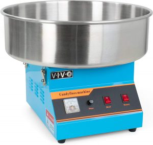 VIVO Blue Electric Commercial Cotton Candy Machine, Candy Floss Maker