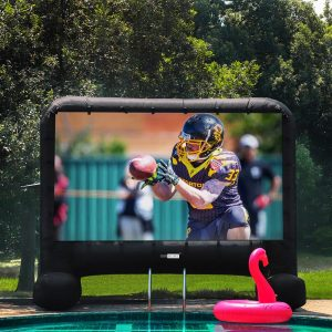 inflatable tv screen and projector