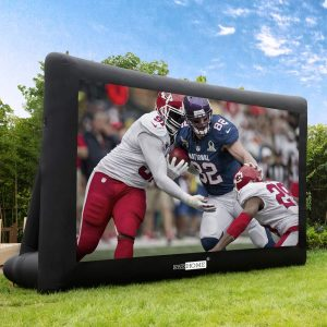 inflatable screen and projector
