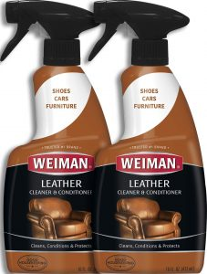 Weiman Leather Cleaner and Conditioner - 16 Ounce - 2 Pack