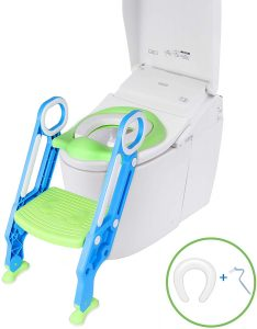 irene inevent Potty Training Toilet Seat with Sturdy Non-Slip Step Stool Ladder for Kids