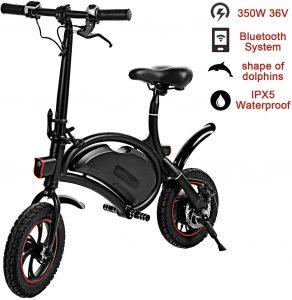 shaofu Folding Electric Bike– 350W 36V Electric Bicycle Waterproof E-Bike with 15 Mile Range