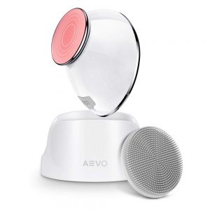AEVO Facial Cleansing Brush, 6X Deeper Cleanse 2 in 1 Heated Massager & Sonic Vibrations