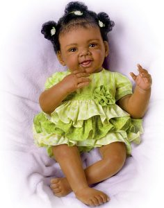Alexis with Hand-Rooted Hair Hold That Pose! Lifelike & Realistic African-American Baby Doll